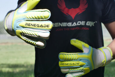goalkeeper wearing vulcan surge gloves