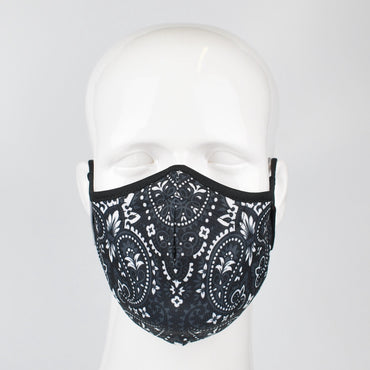 Aegis 2.0 Black Bandana Form-Fitting Performance Face Mask with Microbe-Guard