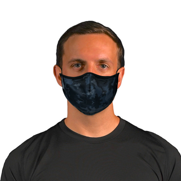 Aegis 2.0 Black Camo Form-Fitting Performance Face Mask with Microbe-Guard™