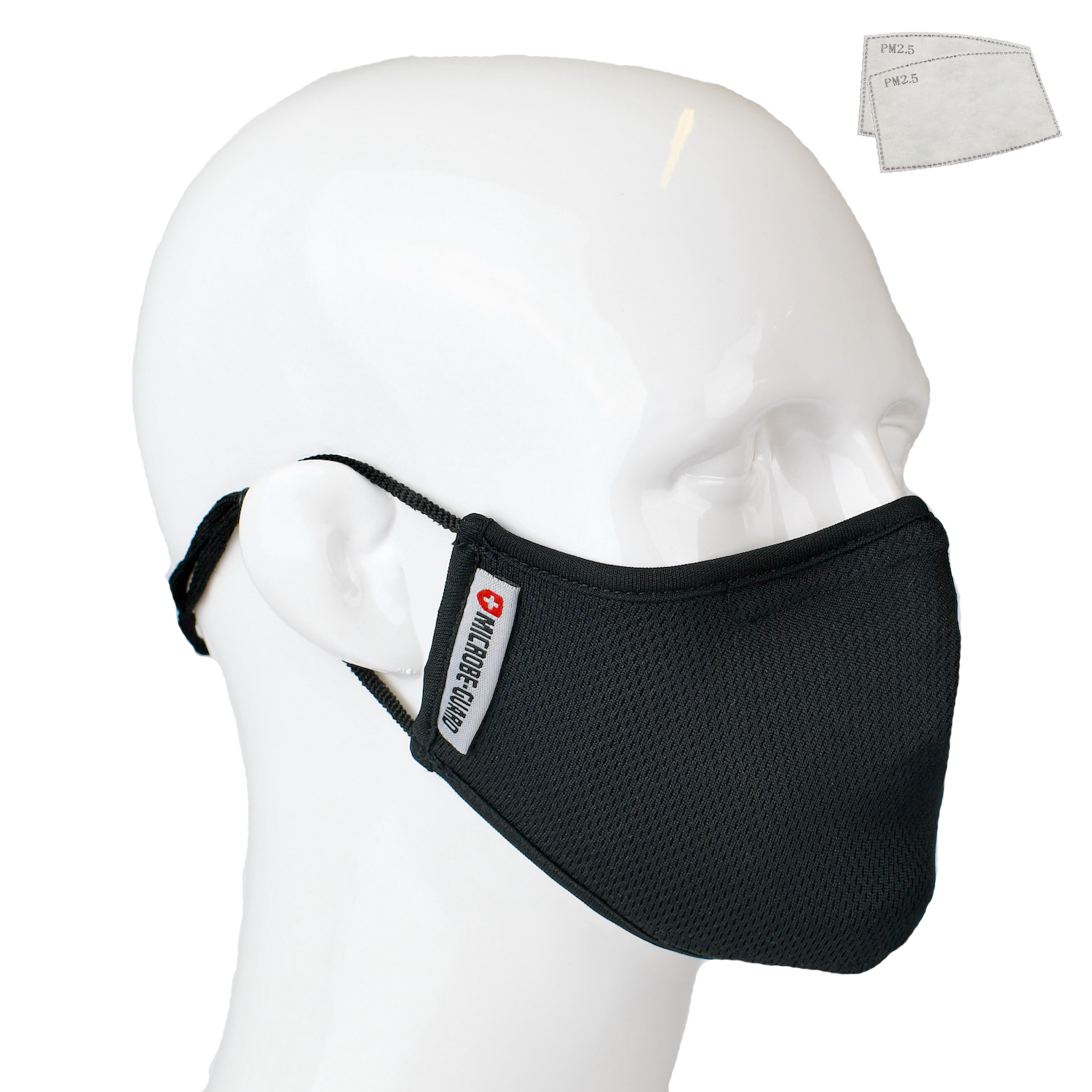Aegis 2.0 Black Solid Form-Fitting Performance Face Mask with Microbe-Guard™