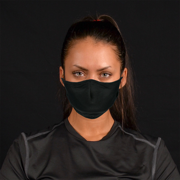 Aegis 2.0 Solid Black Form-Fitting Performance Face Mask with Microbe-Guard™