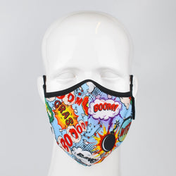 Aegis 2.0 Comic Boom Form-Fitting Performance Face Mask with Microbe-Guard