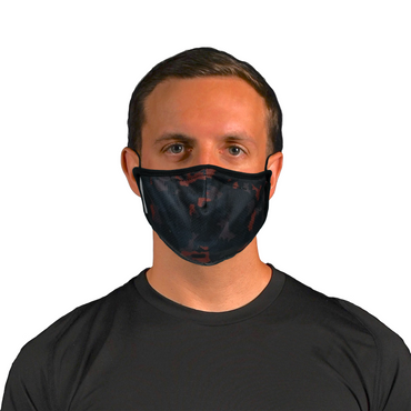 Aegis 2.0 Dark Red Camo Form-Fitting Performance Face Mask with Microbe-Guard™