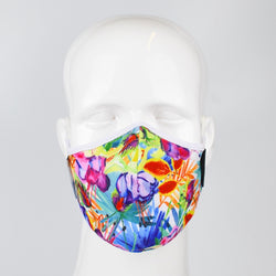 Aegis 2.0 Floral Jungle Form-Fitting Performance Face Mask with Microbe-Guard