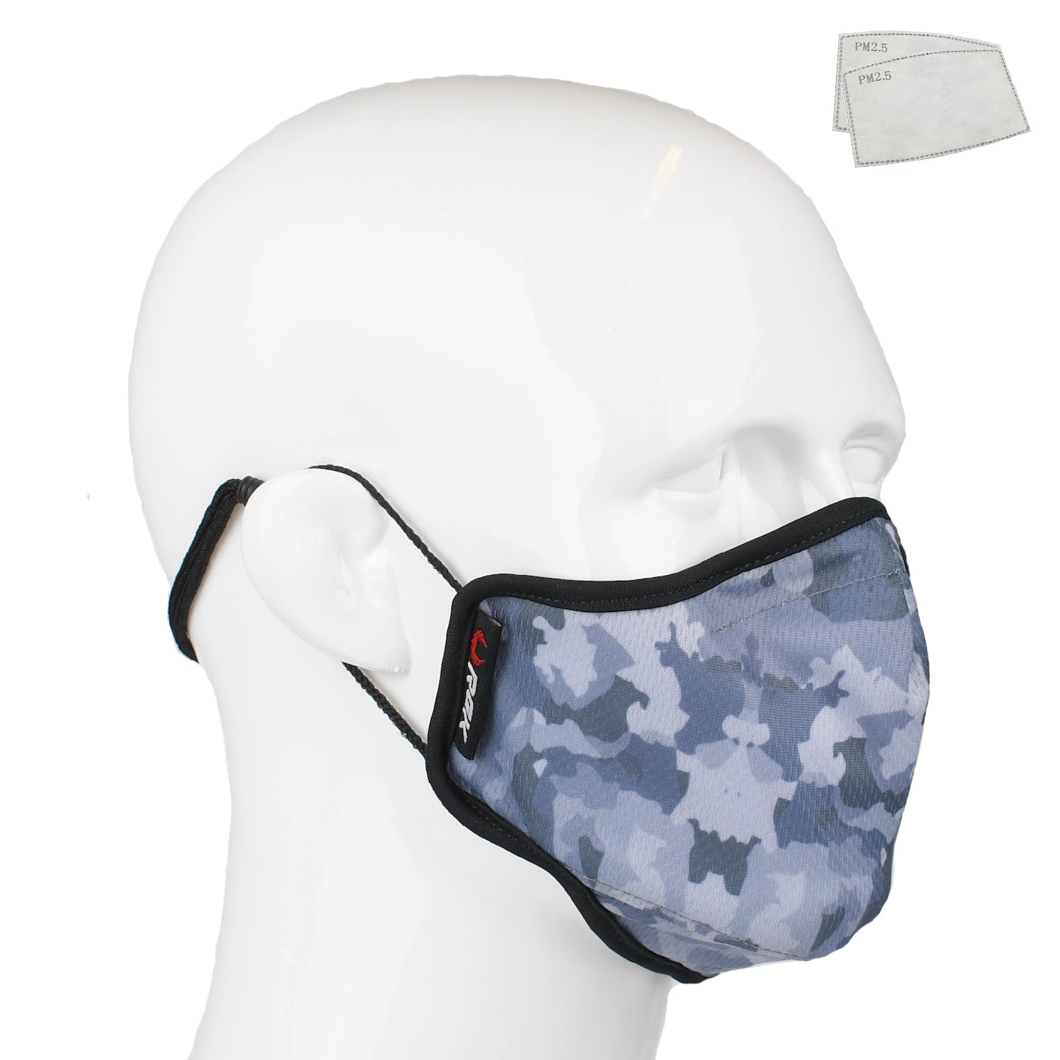 Aegis 2.0 Gray Camo Form-Fitting Performance Face Mask with Microbe-Guard™