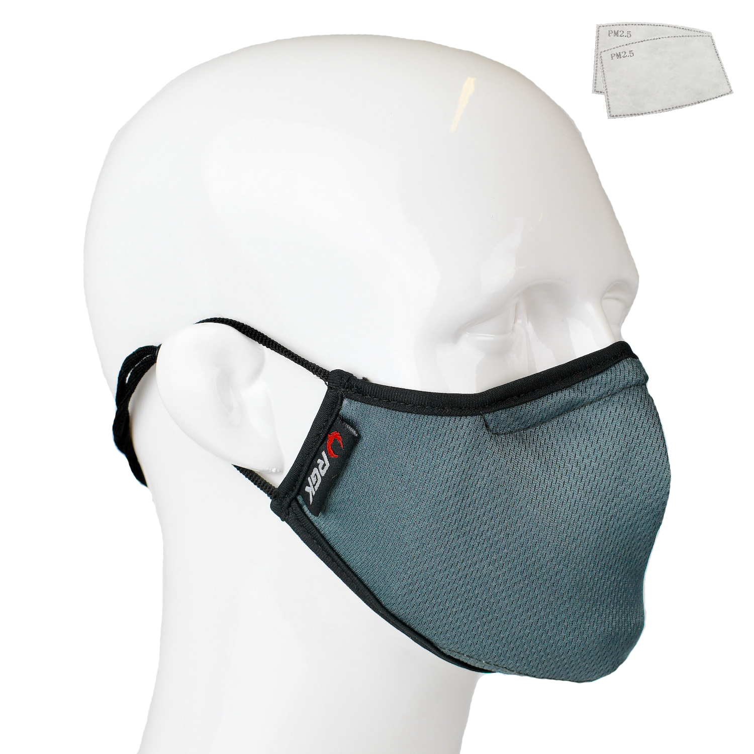 Aegis 2 Gray Solid Performance Face Mask with Microbe-Guard™
