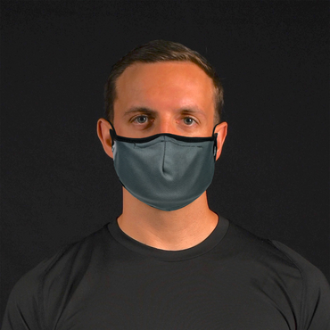 Aegis 2.0 Solid Gray Form-Fitting Performance Face Mask with Microbe-Guard™