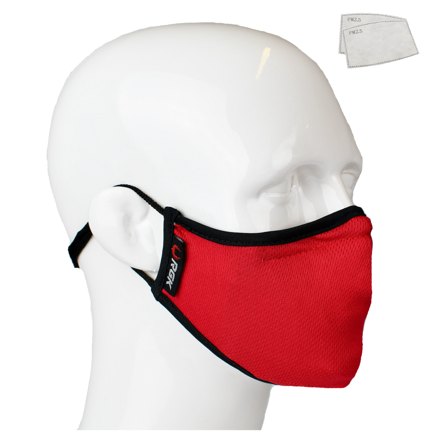 Aegis 2 Red Solid Performance Face Mask with Microbe-Guard™