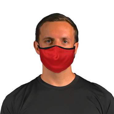 Aegis 2.0 Red Solid Form-Fitting Performance Face Mask with Microbe-Guard™