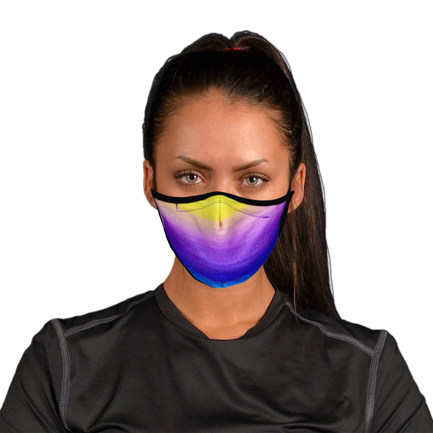 Aegis 2.0 Believe Watercolor Form-Fitting Performance Face Mask with Microbe-Guard
