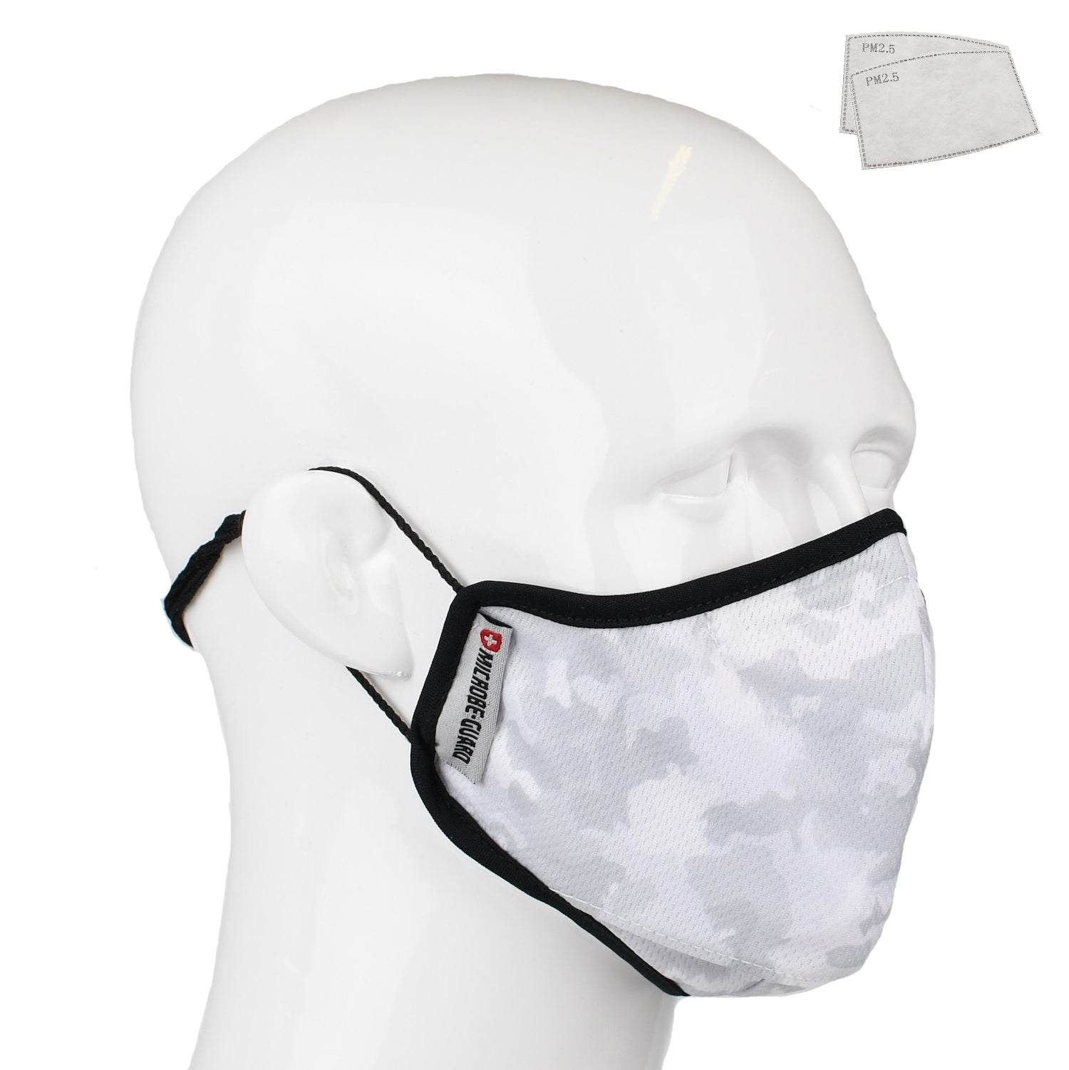 Aegis 2.0 White Camo Form-Fitting Performance Face Mask with Microbe-Guard™