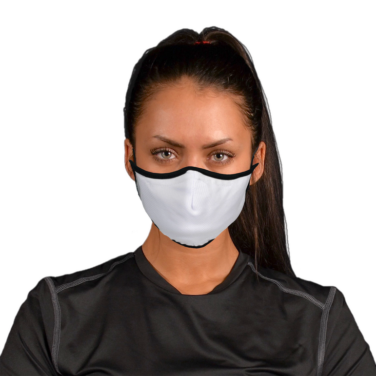 Aegis 2.0 White Solid Form-Fitting Performance Face Mask with Microbe-Guard™