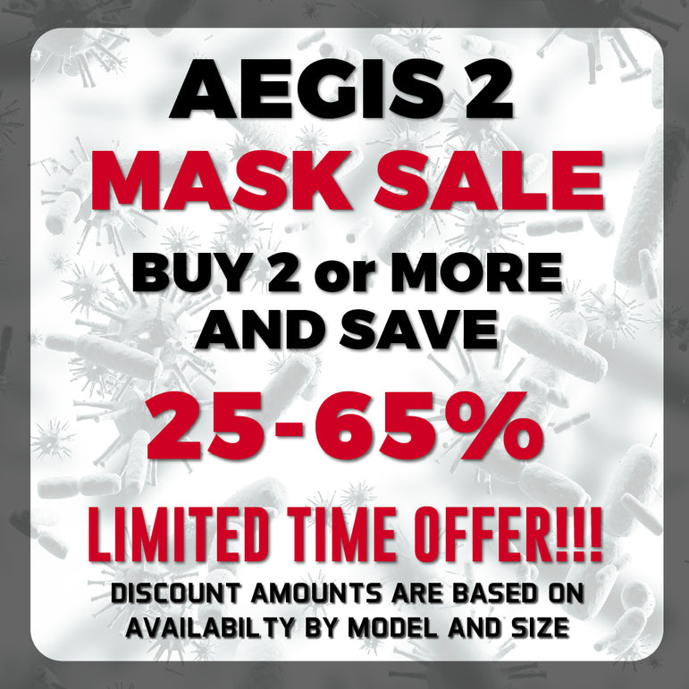 Aegis 2 Black Solid Performance Face Mask with Microbe-Guard™