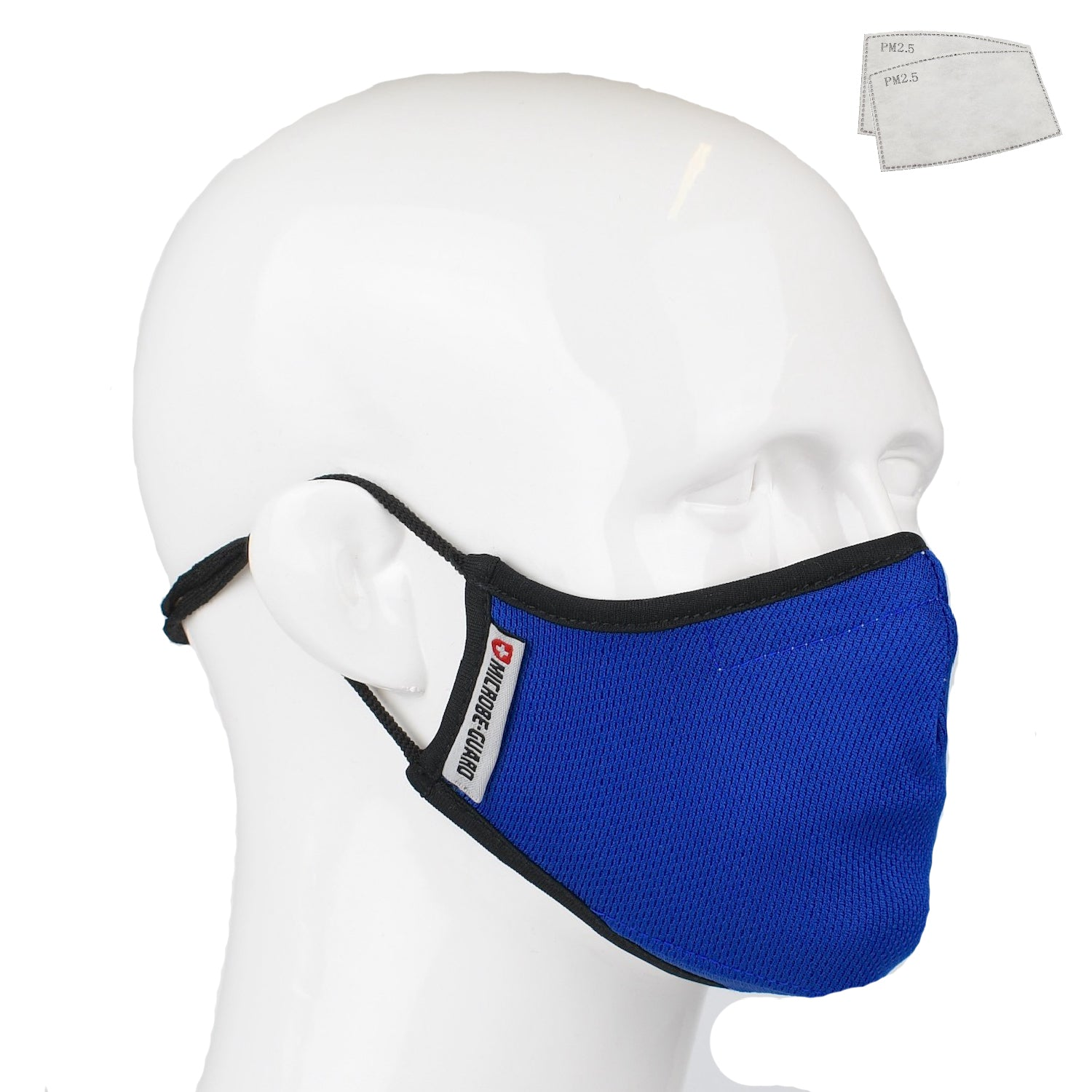Aegis 2 Blue Solid Performance Face Mask with Microbe-Guard