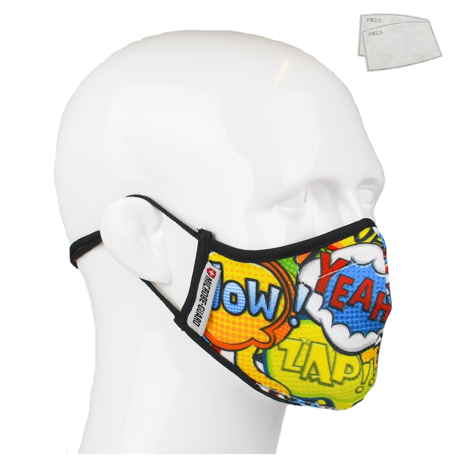 Aegis 2.0 Comic Bubbles Form-Fitting Performance Face Mask with Microbe-Guard