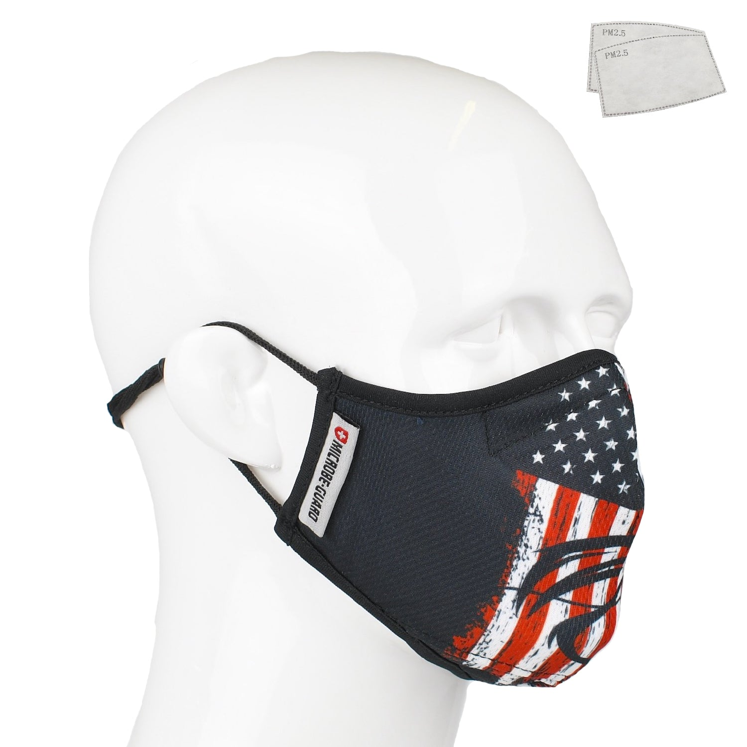 Aegis 2.0 Fishing Flag Form-Fitting Performance Face Mask with Microbe-Guard