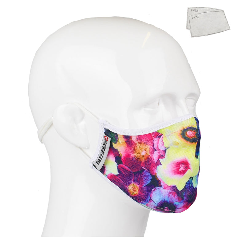 Aegis 2.0 Floral Ultra V Form-Fitting Performance Face Mask with Microbe-Guard