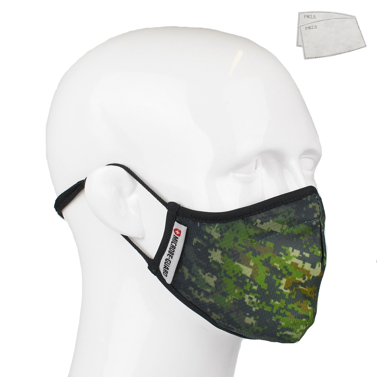 Aegis 2.0 Green Digital Camo Form-Fitting Performance Face Mask with Microbe-Guard