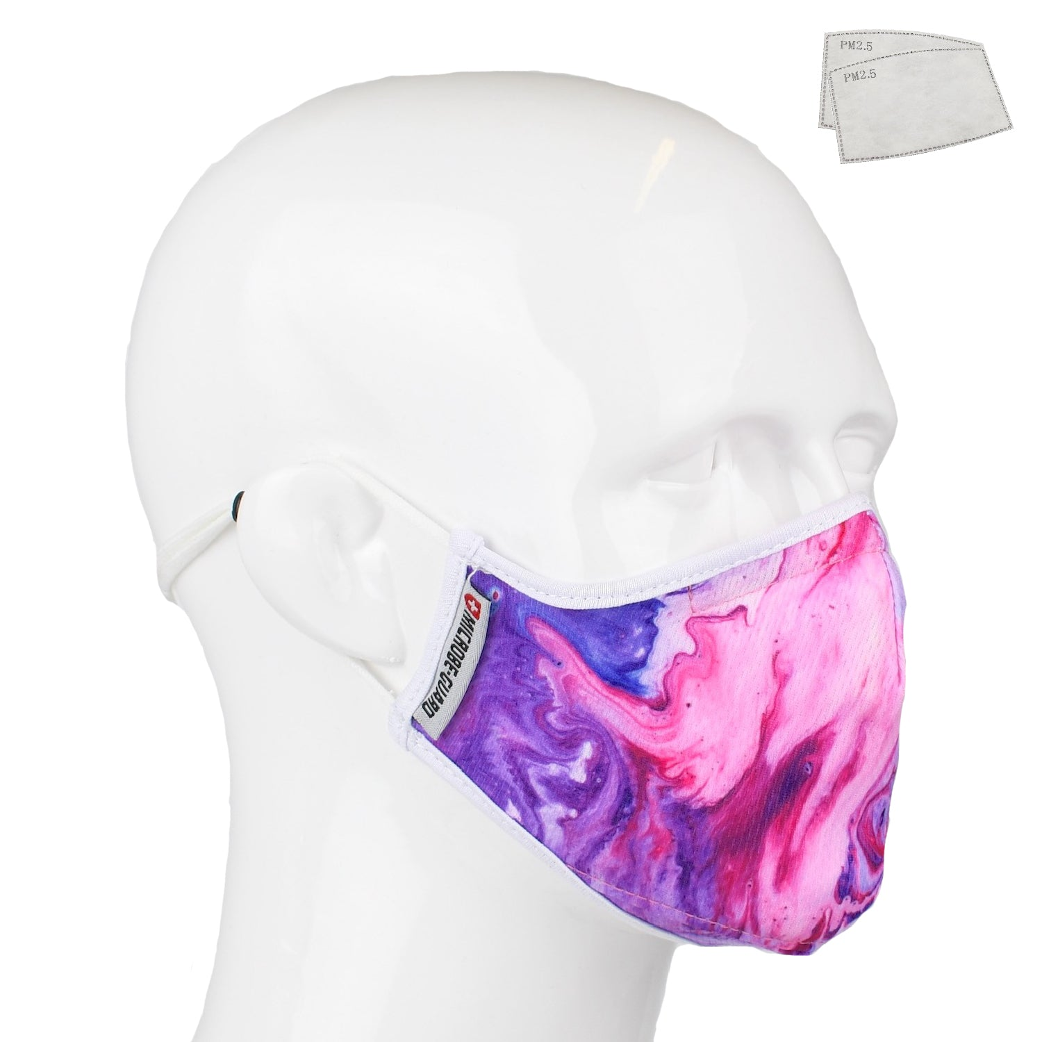Aegis 2 Purple Acrylic Performance Face Mask with Microbe-Guard
