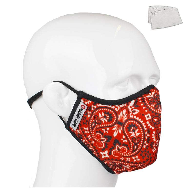 Aegis 2.0 Red Bandana Form-Fitting Performance Face Mask with Microbe-Guard