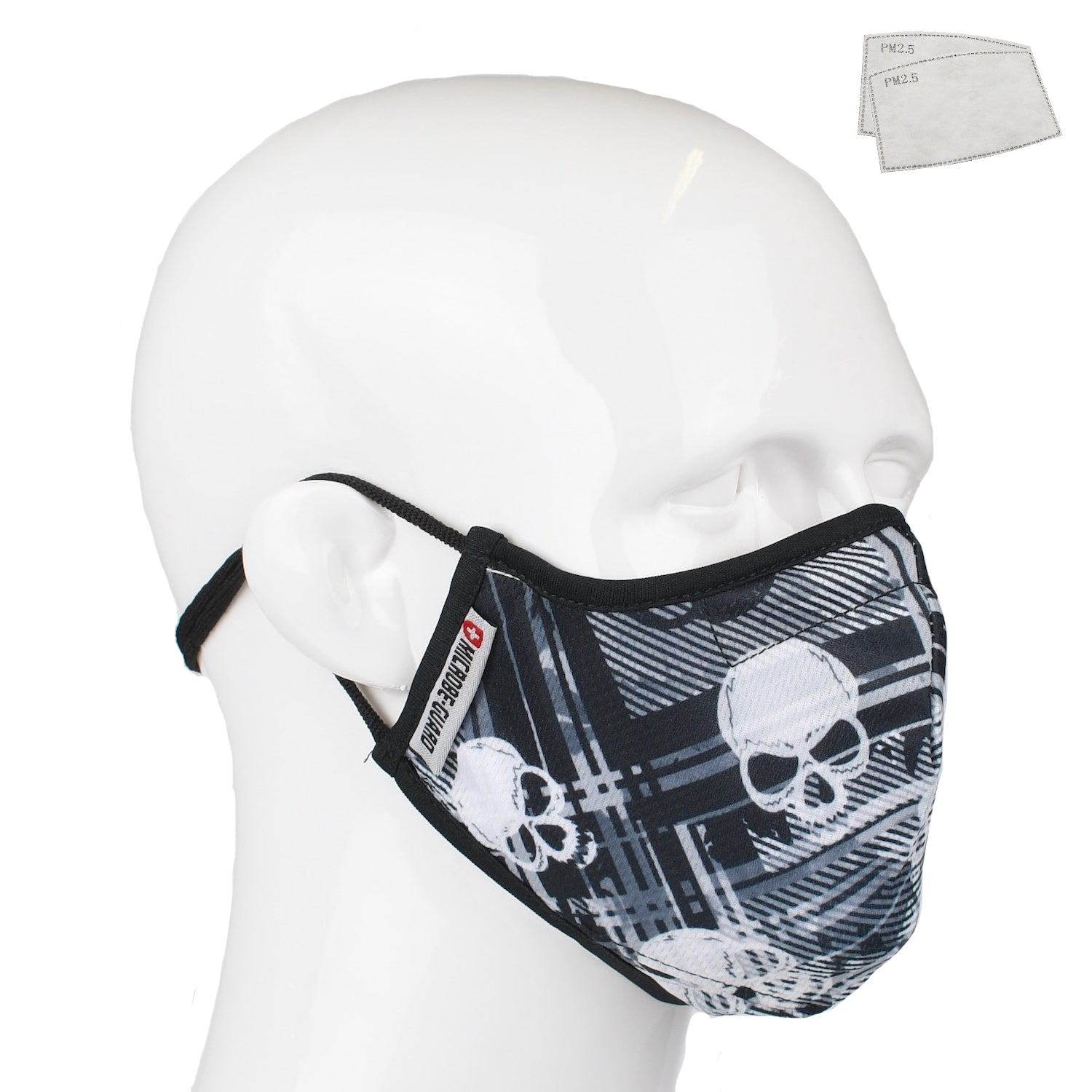 Aegis 2 Skull Plaid Performance Face Mask with Microbe-Guard
