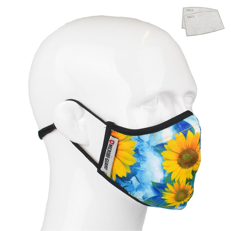 Aegis 2.0 Sunflower Form-Fitting Performance Face Mask with Microbe-Guard