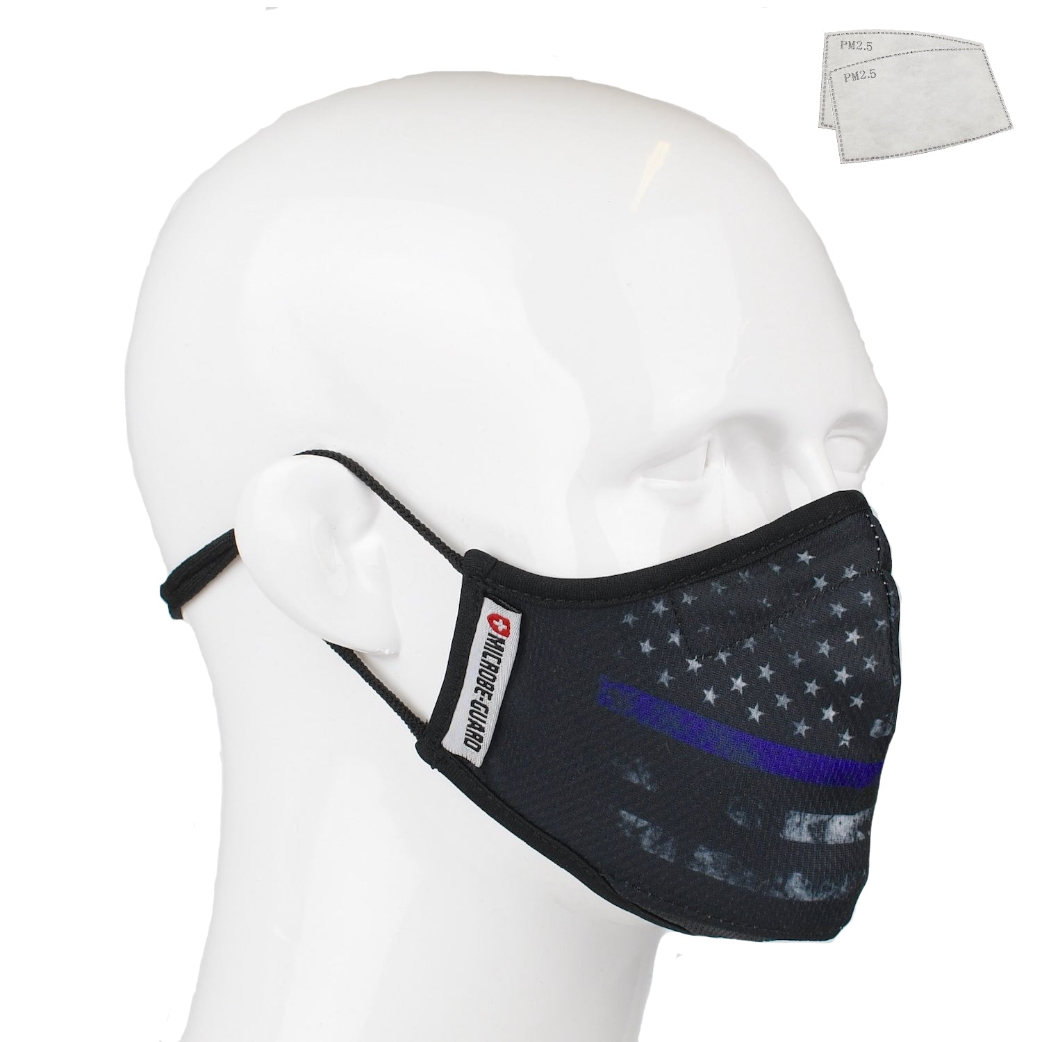 Aegis 2.0 Thin Blue Line Form-Fitting Performance Face Mask with Microbe-Guard