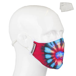 Aegis 2.0 Tie Dye Spiral Form-Fitting Performance Face Mask with Microbe-Guard