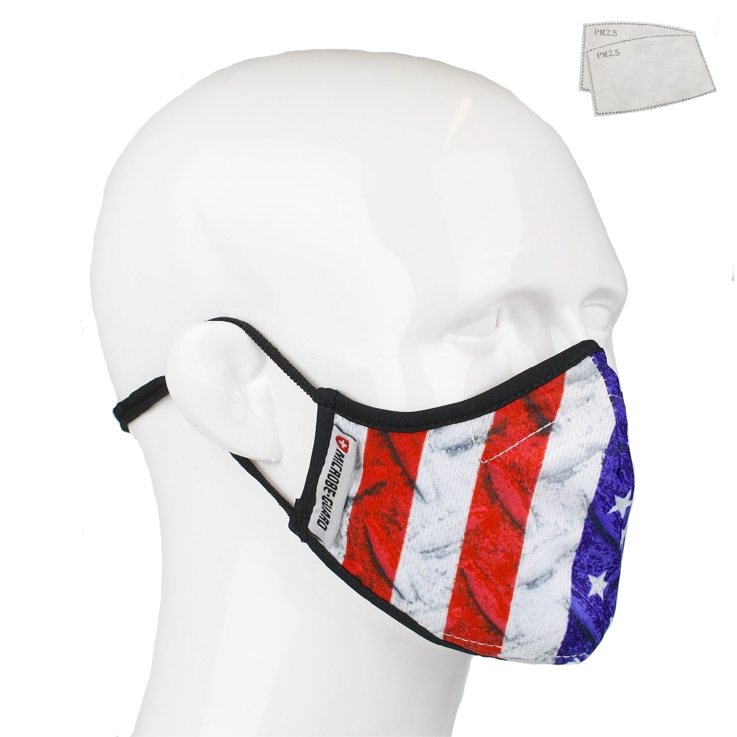 Aegis 2.0 US Flag DS Form-Fitting Performance Face Mask with Microbe-Guard