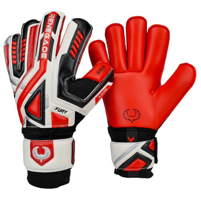 Renegade GK Fury Inferno Gloves Backhand and Palm View