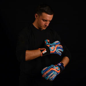 male goalkeeper wearing fury siege keeper gloves