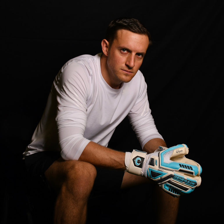 male goalkeeper wearing fury sub z gk gloves