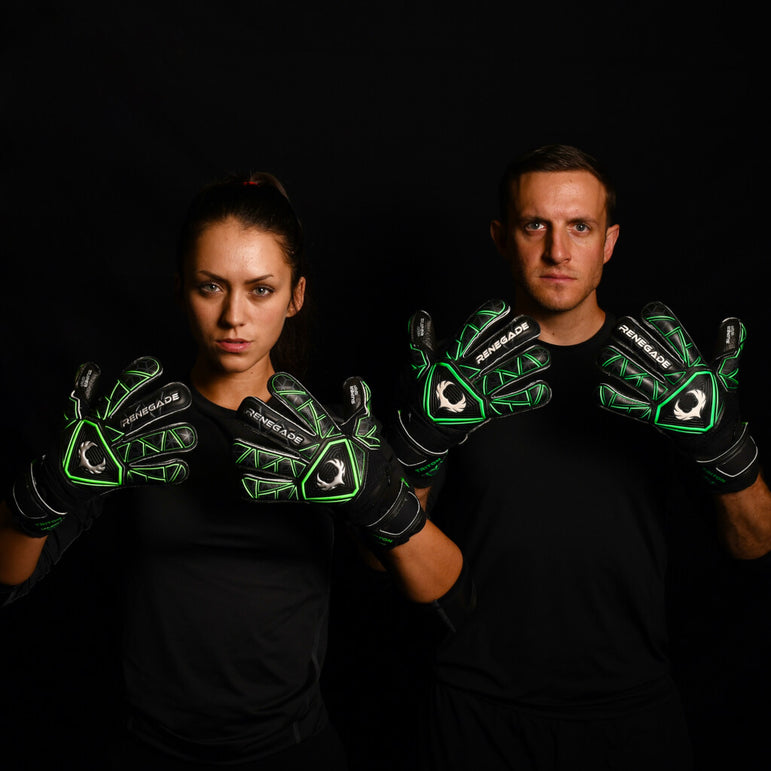 male and female goalkeeper wearing triton raider