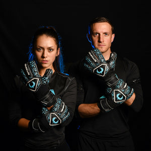 male and female goalkeeper wearing triton specter
