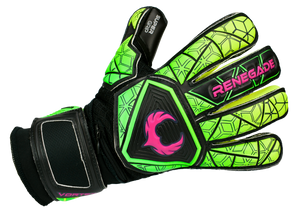 Renegade GK Vortex Venom Goalkeeper Gloves Backhand Angled