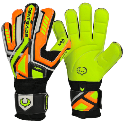 Renegade GK Fury Volt Gloves Backhand and Palm View