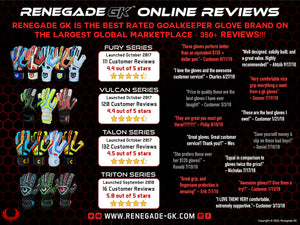 Renegade GK Reviews - Best Rated Goalie Glove Brand on Largest Global Marketplace