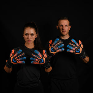 male and female goalkeeper wearing vortex salvo