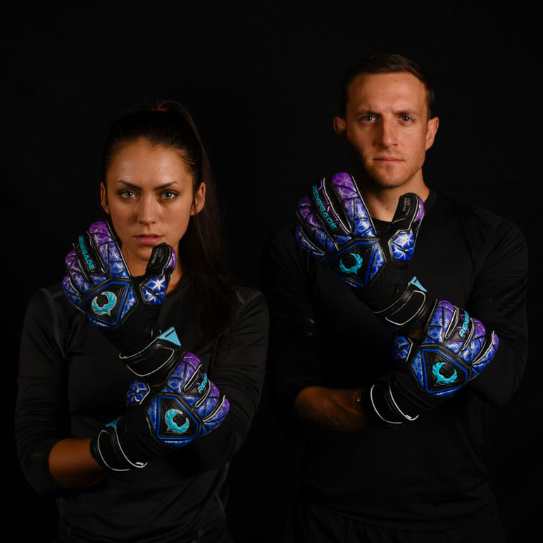 male and female goalkeeper wearing vortex storm