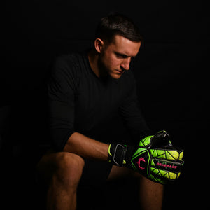 male goalkeeper wearing vortex venom