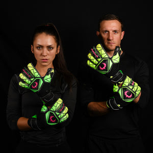 male and female goalkeeper wearing vortex venom