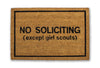 No soliciting except girl scouts doormat