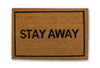 stay away doormat
