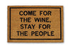 Come for the wine doormat