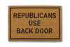 republicans use back door doormat