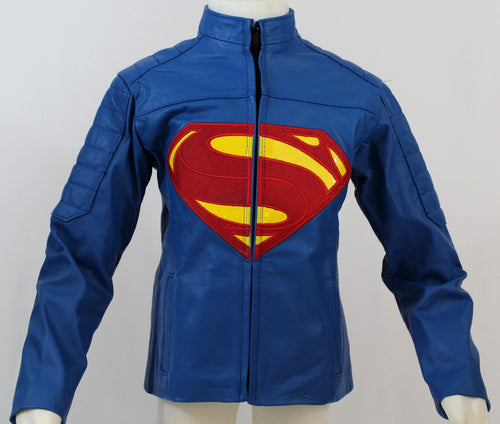 Boys Superman-Inspired Leather Jacket - Princess for a Day Costumes