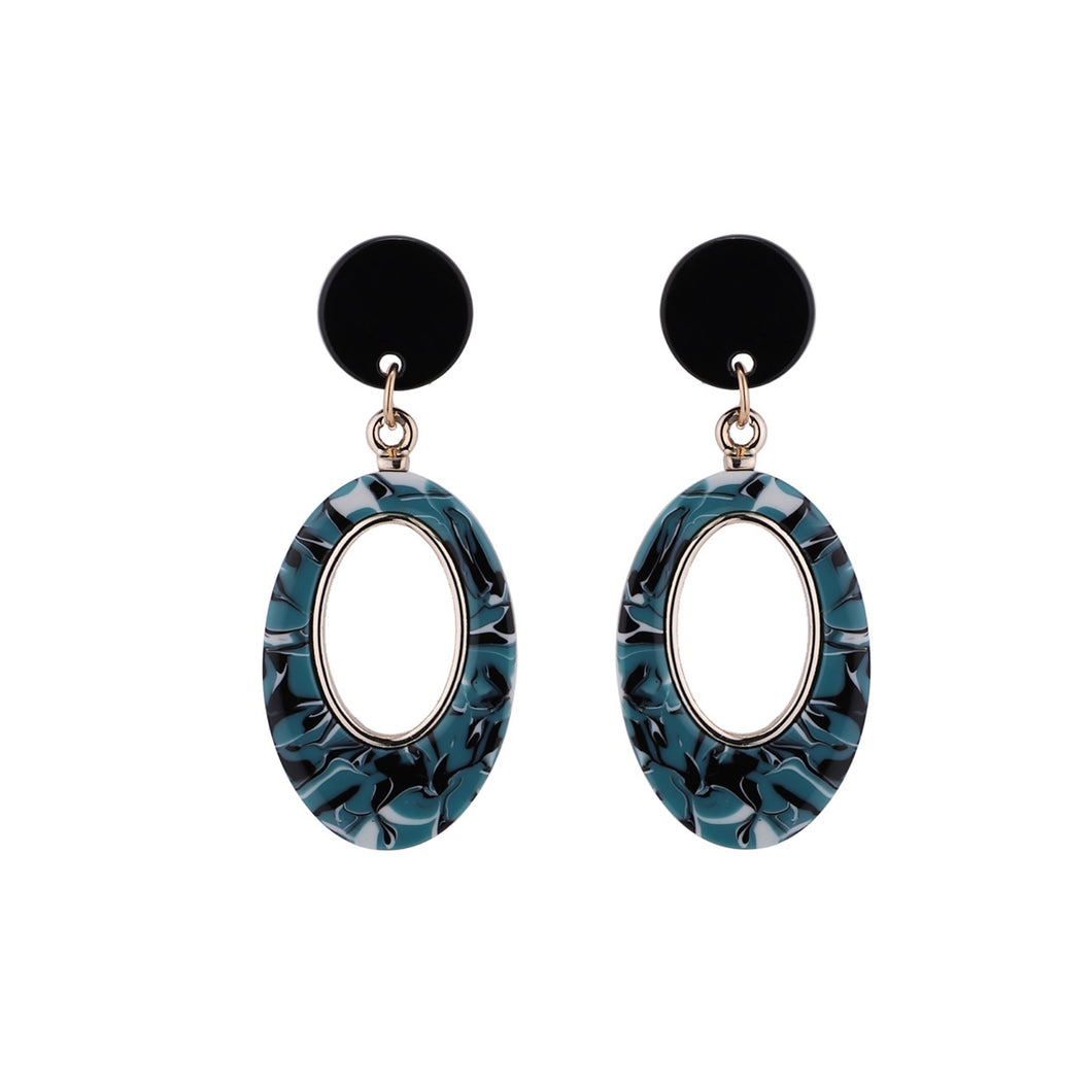 Savoca Earrings - Violet Black Jewellery