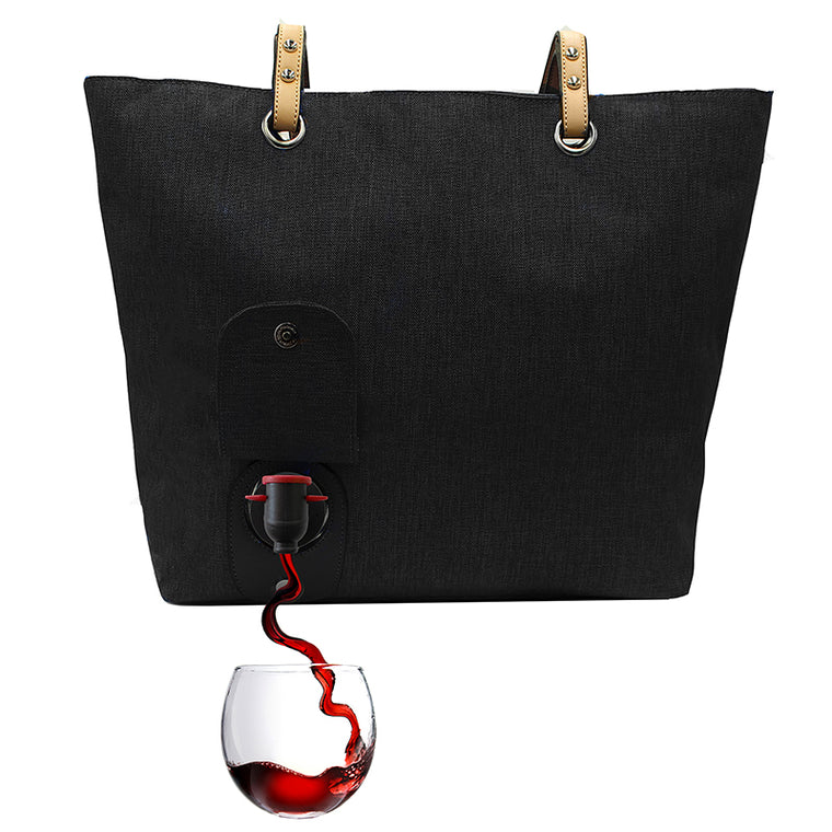 insulated beverage bag with spout