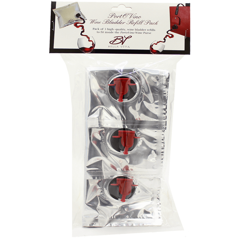 PortoVino Party Pouch set (3 units) with pouring spouts displayed