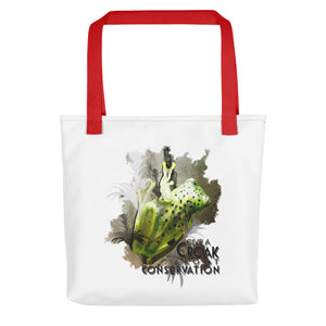 Glass frog watercolor tote bag- Conservation Collection